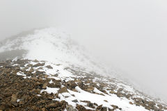 Nytt stupat insnöat Rocky Mountains Royaltyfri Foto