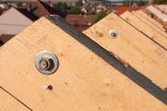 nytt tak för ram Arkivfoto