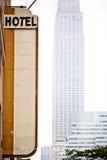 nytt tecken york för blankt hotell royaltyfri fotografi
