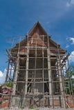 nytt tempel för konstruktion Arkivfoton