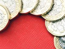 Nytt UK en valuta för pundmynt Arkivbild