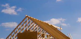 nytt under för konstruktionshus Arkivbilder