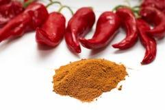 nytt varmt malt rött moget för peppar royaltyfria foton