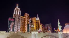 Nytt York-Nytt York hotell i Las Vegas Fotografering för Bildbyråer