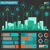 Nytto- infographics Royaltyfria Bilder