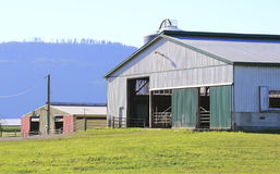 Nytto- lantgårdbyggnader Arkivfoton