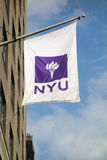 NYU Flag Royalty Free Stock Image