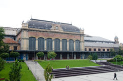 Nyugati Railway Terminal in Budapest Royalty Free Stock Photography