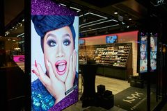 NYX Cosmetics Store image stock
