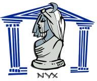 Nyx, Nacht, antike Göttin Lizenzfreie Stockbilder