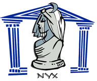 Nyx,night, Greek Goddess Cartoon Royalty Free Stock Images