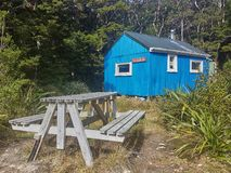 NZ山小屋 免版税库存图片