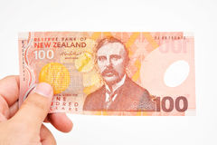 NZ现金 免版税图库摄影