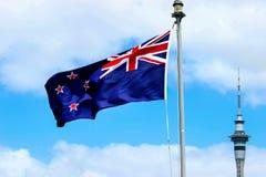 NZ σημαία Στοκ Εικόνες