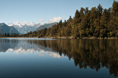 nz matheson озера стоковое фото rf