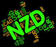 Nzd Currency Indicates New Zealand Dollar And Broker Stock Photography