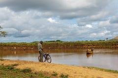 Nzoia flod arkivbild