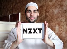 NZXT komputerowej firmy logo Fotografia Stock