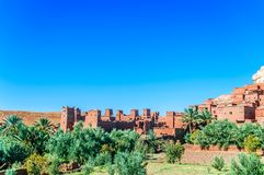Oásis Ait Ben Haddou em Marrocos Imagens de Stock Royalty Free