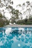 Oásis de uma piscina australiana do quintal cercada pelo nati Fotos de Stock