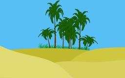 Oásis no deserto Ilustração do Vetor