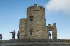O'Brien's Tower - Cliffs of Moher - Ireland. O'Brien's Tower at the Cliffs of Moher. The Cliffs are located at the southwestern edge of the Burren region Stock Photography