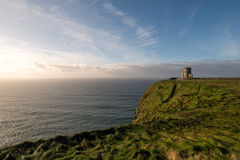 O'Brien's Tower at the Cliffs of Moher, Ireland Royalty Free Stock Image