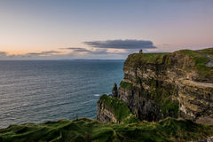 O'Brien's Tower and the Cliffs of Moher Royalty Free Stock Photography