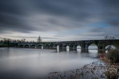 O'Briens Bridge 22-01-2018. O`Brien`s Bridge or O`Briensbridge is a village in east County Clare, Ireland, on the west bank of the River Shannon, in a Stock Image