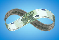Oändlig dollar+euro Arkivfoton