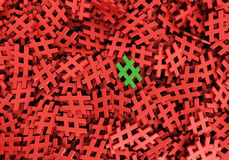 Oändlig grön hashtag på en plan tolkningillustra för original 3d Fotografering för Bildbyråer