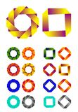 Oändlig mall för logo för bandvektordesign. Arkivbilder