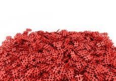 Oändlig röd hashtag på en plan tolkningillustrati för original 3d Royaltyfri Bild