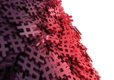 Oändlig röd pölsaetikett på en plan tolkningillustrat för original 3d Royaltyfria Foton
