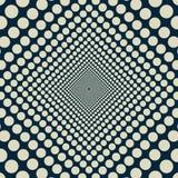 Oändliga minskande jämnt cirklar vektor illustrationer