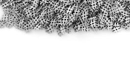 Oändliga pölsaetiketter på en plan tolkning för original 3d avbildar Royaltyfri Foto