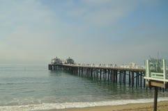 Oändliga Pier Of Malibu Arkitekturnaturlandskap arkivbilder
