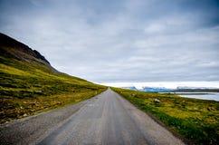 Oändlighet av den icelandic gatan Arkivfoton