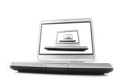 oändlighetsbärbar dator royaltyfri bild
