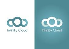 Oändlighetsmoln Ett moln i en oändlighetsform Arkivfoto
