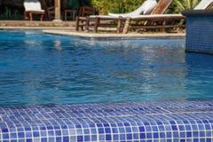Oändlighetspöl från en hotell i Nicaragua Royaltyfria Foton