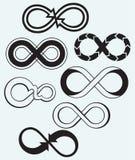 Oändlighetssymbol royaltyfri illustrationer