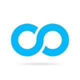 Oändlighetsvektorsymbol Fotografering för Bildbyråer