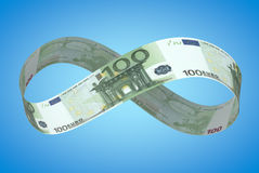 Oändligt euro Fotografering för Bildbyråer