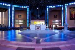Ołtarz przy Liverpool Wielkomiejską katedrą, Liverpool, UK zdjęcia stock