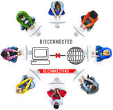 Oåtkomligt begrepp för disconnected Disconnectfel royaltyfria bilder