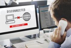 Oåtkomligt begrepp för disconnected Disconnectfel royaltyfri bild