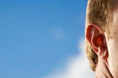 Oído Fotografía de archivo libre de regalías
