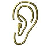 Oído de oro Fotos de archivo