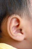 Oído del bebé Imágenes de archivo libres de regalías